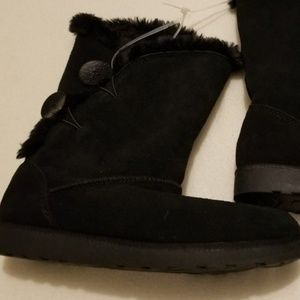 SO Image Women's Suede Mid-Calf Boots size 7.5
